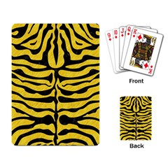 Skin2 Black Marble & Yellow Colored Pencil Playing Card