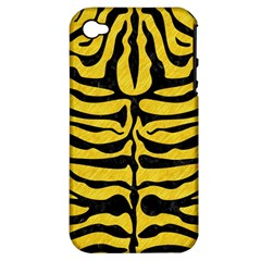 Skin2 Black Marble & Yellow Colored Pencil Apple Iphone 4/4s Hardshell Case (pc+silicone)