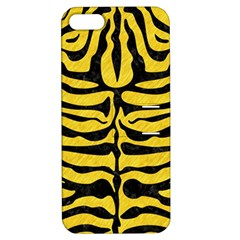 Skin2 Black Marble & Yellow Colored Pencil Apple Iphone 5 Hardshell Case With Stand
