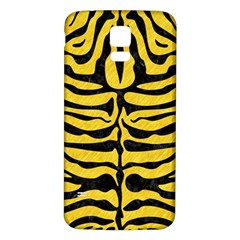 Skin2 Black Marble & Yellow Colored Pencil Samsung Galaxy S5 Back Case (white)