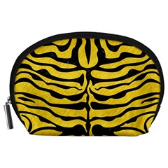 Skin2 Black Marble & Yellow Colored Pencil Accessory Pouches (large)