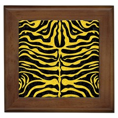 Skin2 Black Marble & Yellow Colored Pencil (r) Framed Tiles