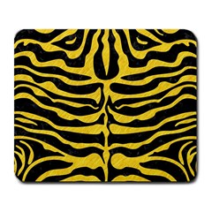 Skin2 Black Marble & Yellow Colored Pencil (r) Large Mousepads
