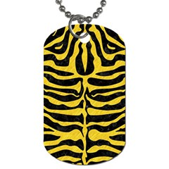 Skin2 Black Marble & Yellow Colored Pencil (r) Dog Tag (one Side)