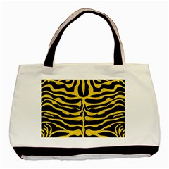 Skin2 Black Marble & Yellow Colored Pencil (r) Basic Tote Bag