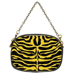 Skin2 Black Marble & Yellow Colored Pencil (r) Chain Purses (two Sides)