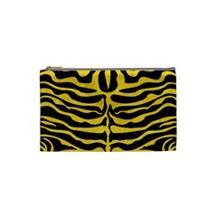 Skin2 Black Marble & Yellow Colored Pencil (r) Cosmetic Bag (small)