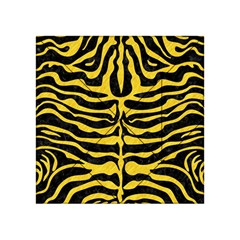 Skin2 Black Marble & Yellow Colored Pencil (r) Acrylic Tangram Puzzle (4  X 4 )