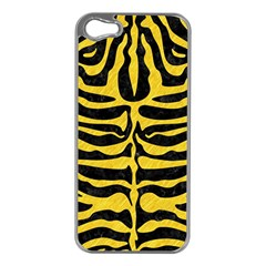 Skin2 Black Marble & Yellow Colored Pencil (r) Apple Iphone 5 Case (silver)