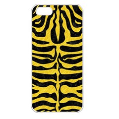Skin2 Black Marble & Yellow Colored Pencil (r) Apple Iphone 5 Seamless Case (white)
