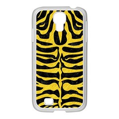 Skin2 Black Marble & Yellow Colored Pencil (r) Samsung Galaxy S4 I9500/ I9505 Case (white)