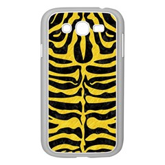 Skin2 Black Marble & Yellow Colored Pencil (r) Samsung Galaxy Grand Duos I9082 Case (white)