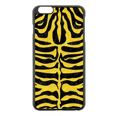 Skin2 Black Marble & Yellow Colored Pencil (r) Apple Iphone 6 Plus/6s Plus Black Enamel Case