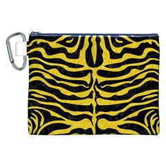 Skin2 Black Marble & Yellow Colored Pencil (r) Canvas Cosmetic Bag (xxl)
