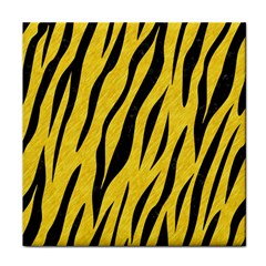 Skin3 Black Marble & Yellow Colored Pencil Tile Coasters