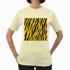 Skin3 Black Marble & Yellow Colored Pencil Women s Yellow T Shirt