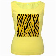 Skin3 Black Marble & Yellow Colored Pencil Women s Yellow Tank Top