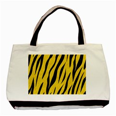 Skin3 Black Marble & Yellow Colored Pencil Basic Tote Bag