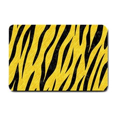 Skin3 Black Marble & Yellow Colored Pencil Small Doormat