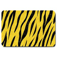 Skin3 Black Marble & Yellow Colored Pencil Large Doormat