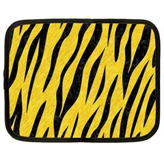 Skin3 Black Marble & Yellow Colored Pencil Netbook Case (large)