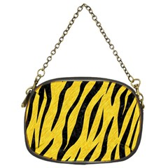 Skin3 Black Marble & Yellow Colored Pencil Chain Purses (two Sides)