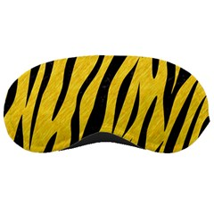 Skin3 Black Marble & Yellow Colored Pencil Sleeping Masks