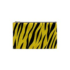 Skin3 Black Marble & Yellow Colored Pencil Cosmetic Bag (small)