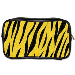 Skin3 Black Marble & Yellow Colored Pencil Toiletries Bags 2 Side