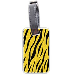 Skin3 Black Marble & Yellow Colored Pencil Luggage Tags (two Sides)