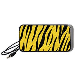 Skin3 Black Marble & Yellow Colored Pencil Portable Speaker