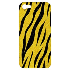Skin3 Black Marble & Yellow Colored Pencil Apple Iphone 5 Hardshell Case