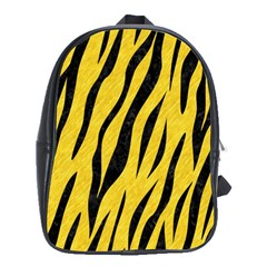 Skin3 Black Marble & Yellow Colored Pencil School Bag (xl)