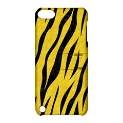 Skin3 Black Marble & Yellow Colored Pencil Apple Ipod Touch 5 Hardshell Case With Stand