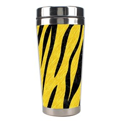 Skin3 Black Marble & Yellow Colored Pencil Stainless Steel Travel Tumblers