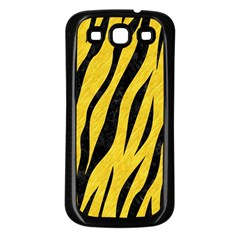 Skin3 Black Marble & Yellow Colored Pencil Samsung Galaxy S3 Back Case (black)
