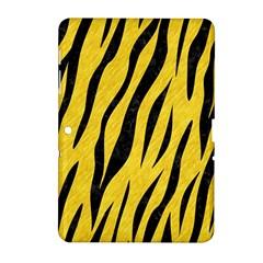 Skin3 Black Marble & Yellow Colored Pencil Samsung Galaxy Tab 2 (10 1 ) P5100 Hardshell Case