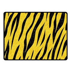 Skin3 Black Marble & Yellow Colored Pencil Double Sided Fleece Blanket (small)