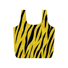 Skin3 Black Marble & Yellow Colored Pencil Full Print Recycle Bags (s)