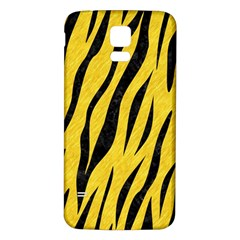 Skin3 Black Marble & Yellow Colored Pencil Samsung Galaxy S5 Back Case (white)