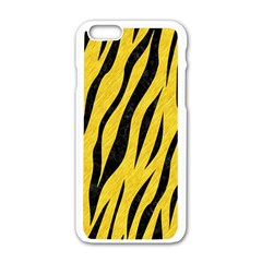 Skin3 Black Marble & Yellow Colored Pencil Apple Iphone 6/6s White Enamel Case