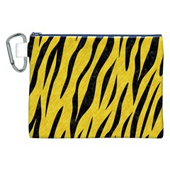 Skin3 Black Marble & Yellow Colored Pencil Canvas Cosmetic Bag (xxl)