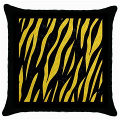 Skin3 Black Marble & Yellow Colored Pencil (r) Throw Pillow Case (black)