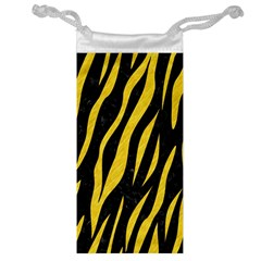 Skin3 Black Marble & Yellow Colored Pencil (r) Jewelry Bag
