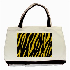 Skin3 Black Marble & Yellow Colored Pencil (r) Basic Tote Bag (two Sides)