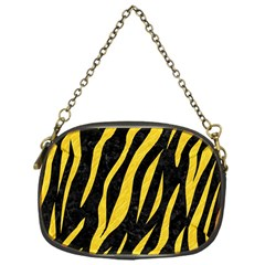 Skin3 Black Marble & Yellow Colored Pencil (r) Chain Purses (one Side)