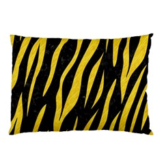 Skin3 Black Marble & Yellow Colored Pencil (r) Pillow Case