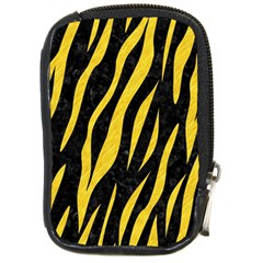Skin3 Black Marble & Yellow Colored Pencil (r) Compact Camera Cases