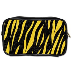 Skin3 Black Marble & Yellow Colored Pencil (r) Toiletries Bags