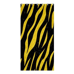 Skin3 Black Marble & Yellow Colored Pencil (r) Shower Curtain 36  X 72  (stall)
